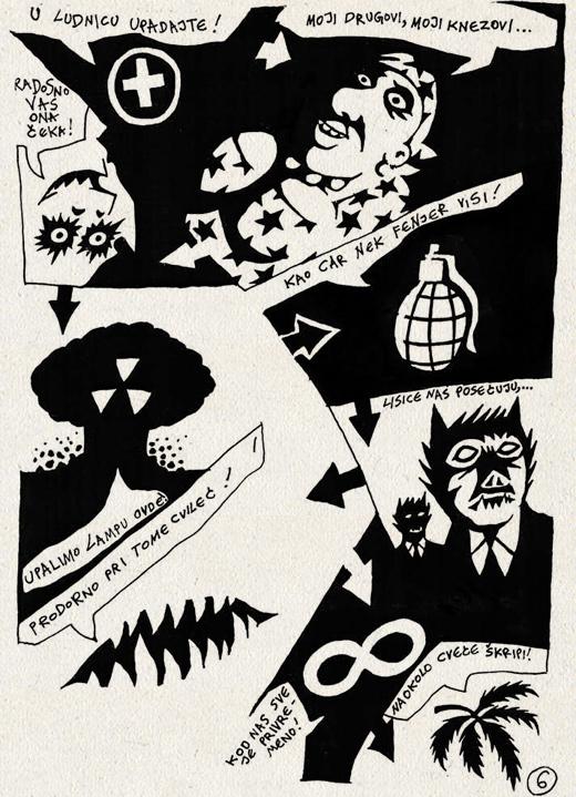 Ilustracije u broju: Wostok, Razgovor o ludnici