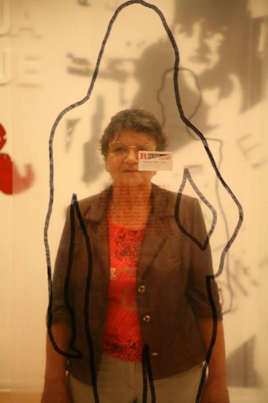 Gospođa Radojka Pekas iza siluete kojom je predstavljena