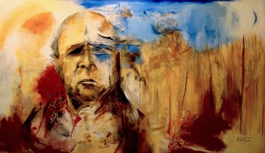 'Eugénio de Andrade, o Poeta' 150x260cm