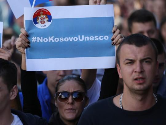 Kosovska-Mitrovica-protest-Unesco-9