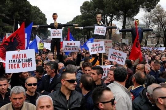 ALBANIA-POLITICS-OPPOSITION-PROTEST