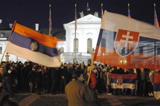SLOVAKIA-SERBIA-KOSOVO-PROTEST