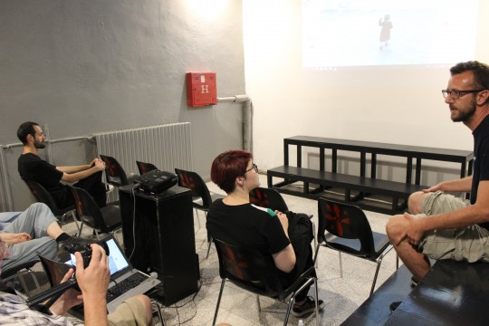 Video projekcije sa diskusijama, Nenad Porobic, Kino Klub Barut, Foto Mirjana Dragosavljevic