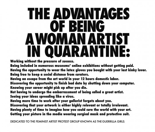 0001.Advantages of Being a Woman Artist in Quarantine