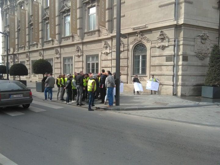 Jovan Jović, Protest radnika Beograda na vodi