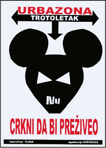 Miomir Grujić Fleka, URBAZONA, plakat